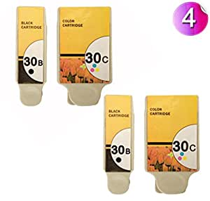 AA+inks Compatible Ink Cartridges Replacement for Kodak 30 BK & 30 CL Compatible High Capacity Ink Cartridges For Kodak ESP Office Hero AIO Printers (4Inks - 2Black 2Colour)