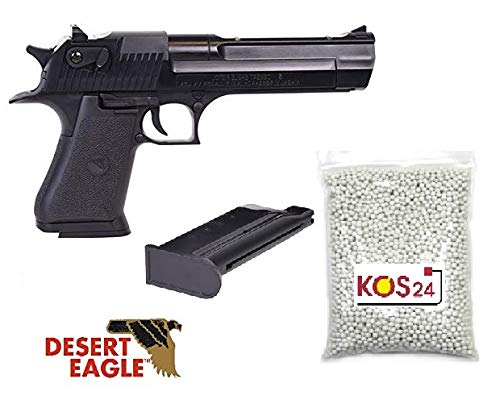 KOSxBO Softair Set Desert Eagle .50AE Pistole - 0,5 Joule - Springer - Softair ab 14 Jahren inklusive Munition 1000 Premium BB Kugeln