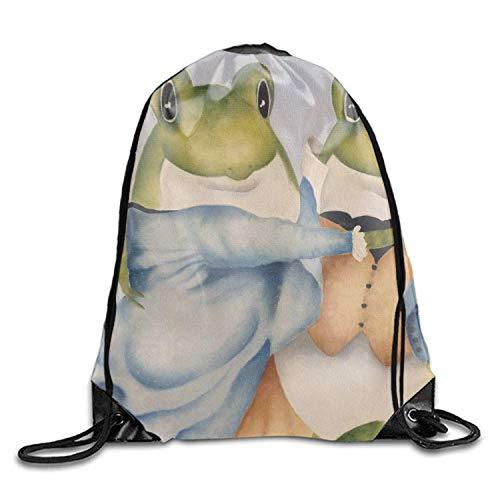 ZHIZIQIU Drawstring Backpack Dancing Frog String Bag Sports Waterproof Sackpack Gymsack Gym Cinch Sack -