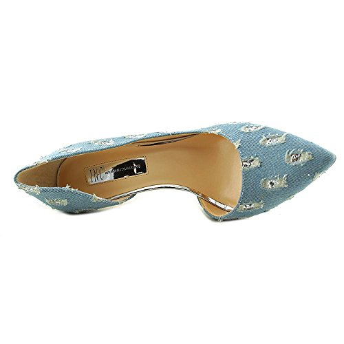 INC International Concepts Kenjay Damen Spitz Textile Stöckelschuhe Light Blue Denim