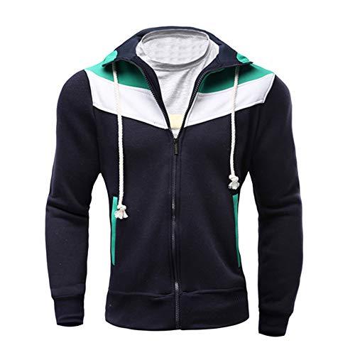 Uomogo -20% felpa con cappuccio, uomo retro felpa senza cappuccio manica lunga felpa giacche giacca outwear,miscela del cotone,m~xxl