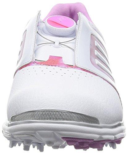 Adidas W Adistar Tour Boa - Chaussures De Golf Pour Femme Blanc / Rose