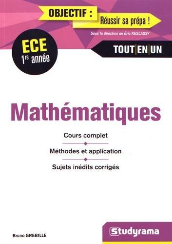 Mathématiques 1re année ECE
