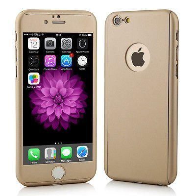 SDO™ Protective Slim Fit 360 Hybrid Body Cover Case with Tempered Glass for Apple iPhone 5/5S (Champagne Gold)
