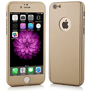 SDO™ Protective Slim Fit 360 Hybrid Body Cover Case with Tempered Glass for Apple iPhone 5 / 5S (Champagne Gold)