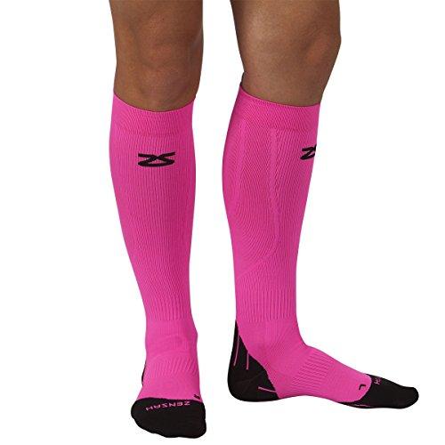 Zensah Kompressions Socken Tech+, Neon Pink, S, 015128