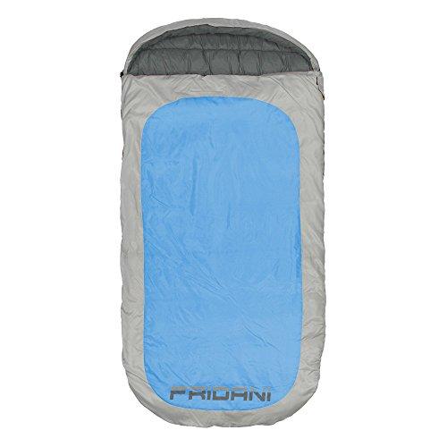 Fridani Schlafsack PB 220 x 110 cm XXL Deckenschlafsack Blau -18°C warm wasserabweisend waschbar 100% Polyester Diamond