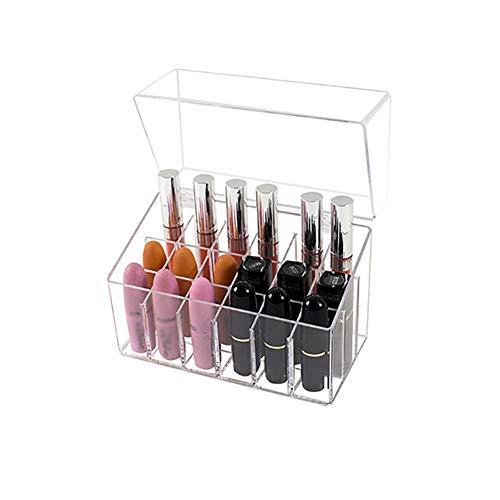 Kitchenmore organizzatore rossetti,porta rossetto astuccio in acrilico trasparente organizzatore di smalti per unghie multistrato scaffale di esposizione dei cosmetici del rossetto