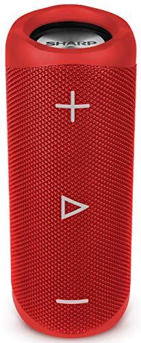 SHARP GX-BT280(RD) Enceinte Portable Bluetooth IP56 étanche 12 Heures d'autonomie Rouge