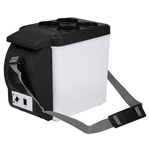 GOTOTOP 6L Capacidad 12V Portátil Mini Nevera Refrigerador de Coche 2 en 1 Enfriador y Calentador Eléctrico para Viaje Cámping