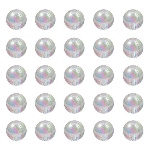 NBEADS 500g 8mm Clear Crystal AB Color Plated Acrylic Beads 88b024e0cb84