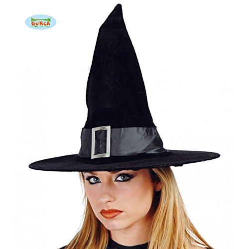 Fiestas Guirca GUI13225 - Harry Potter Hut aus Samt (Schnalle Hut Hexe Schwarz)