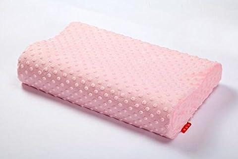 XIAOMEIXI Oreiller en mousse à mémoire Rectangle rose Prévient la douleur au dos et au cou Hypoallergénique Respirant Confortable Lit lavable à la maison pour la vie , pink ,