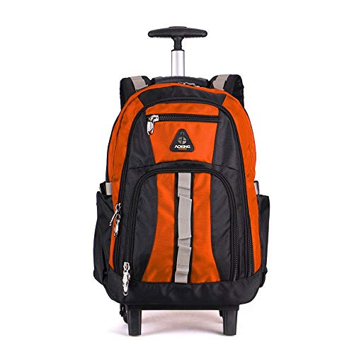 Aufrechte Gepäck (MKJYDM Reisetasche Trolley Gepäck Reisetasche Computertasche Aufrechte Trolley Jugend Schulrucksack Business Large Capacity Bag Trolley Rucksack (Color : Orange, Size : 48x20x34cm))
