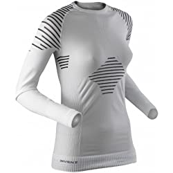 X-Bionic Lady Invent Uw Shirt Long_Sl, Donna, Bianco/Nero, M