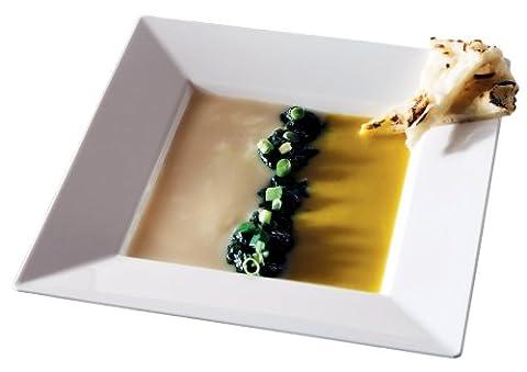 Squares 12oz Bowl, White, 10 Bowls by EMI (Piatti Yoshi Plastica)
