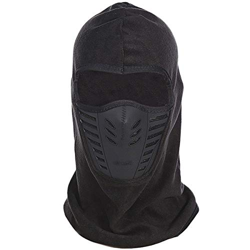 Aeromdale Outdoor Fleece Windproof Fleece Cap Sportausrüstung SCHWARZ