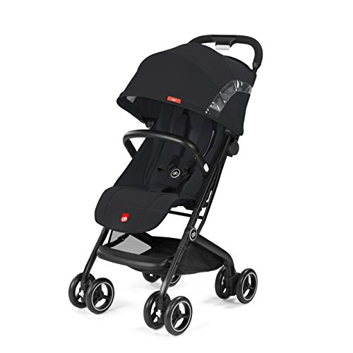 gb Gold Compact Pushchair Qbit, 2-in-1 Travel system, From 6 months to 17 kg (approx. 4 years), Satin Black  Columbus Trading Partners GmbH & Co. KG (formerly Cybex)