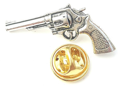 colt-45-pistol-gun-handcrafted-from-english-pewter-in-the-uk-lapel-pin-badge-59mm-button-badge-gift-