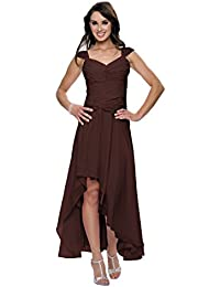 Astrapahl, Cocktaikleid, Abendkleid, breite Täger, Festkleid, Brautkleid, lang, Farbe braun