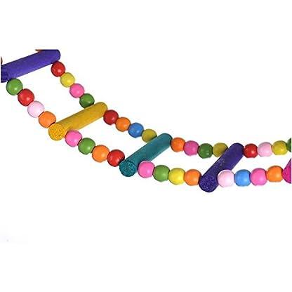 Rope Ladder Rainbow Bridge Bird Toy 27 Inch 5