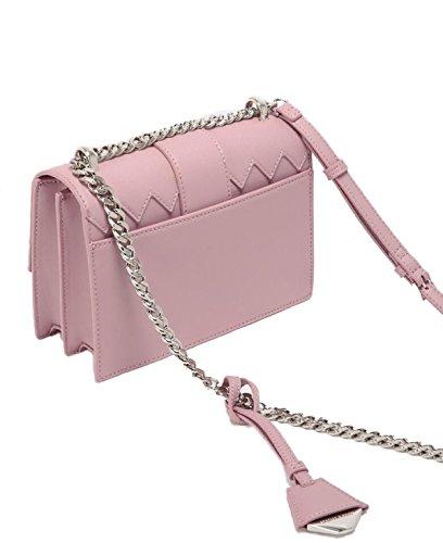 FZHLY Europa E Stati Uniti Di Colore Di Modo Combatti Borsa Piccola Piazza,Pink Pink