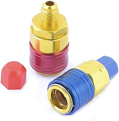 Blu Rosso 1 8  PT attacco rapido connettore connettore connettore 2 pezzi per condizionatore d'aria | Cheap  | In vendita  | Economici Per  9ee82c