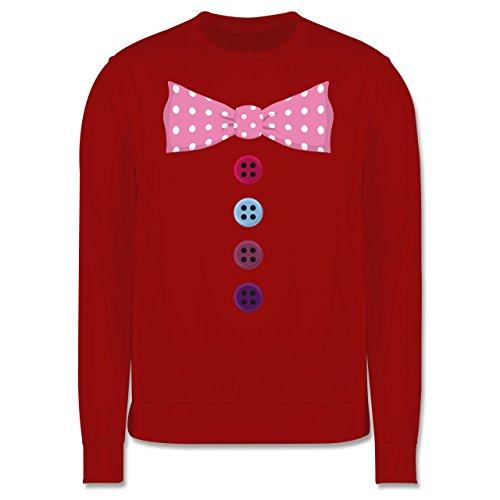 Karneval & Fasching - Clown Kostüm rosa Fliege - Herren Premium Pullover Rot