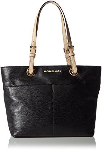 Michael KorsBedford Top Zip Pocket Leather Tote - Borsa con Maniglia Donna Nero