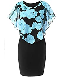 81d096166c4cf FNKDOR Summer Fashion Womens Ladies Evening Party Theatre Concert Elegnat Charming  Casual Plus Size Rose Print