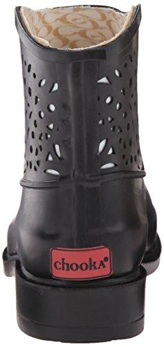 Chooka Deco Laser Cut Bootie Caoutchouc Bottine Black