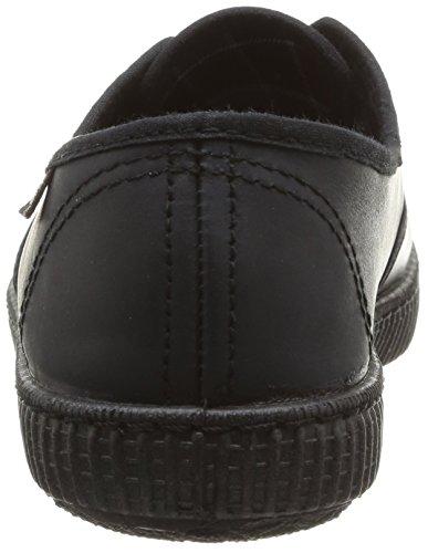 Donna Nero Inglesa Piel Victoria Noir Negro Sneaker wqga8Ft