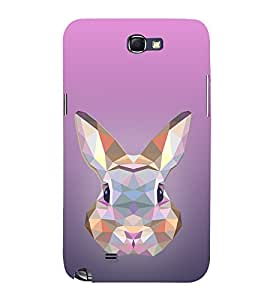 Rabbit 3D View 3D Hard Polycarbonate Designer Back Case Cover for Samsung Galaxy Note 2 :: Samsung Galaxy Note 2 N7100