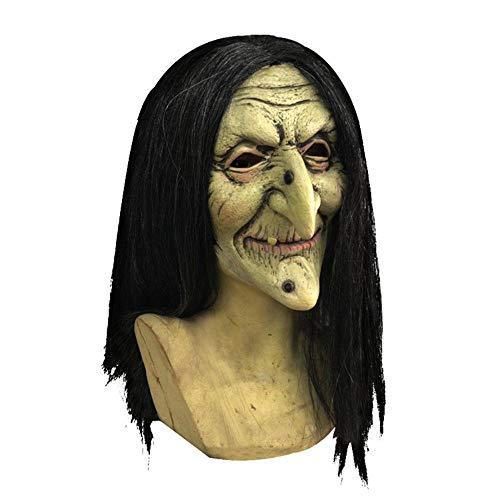 Ausgefallene Kostüm Kleid Für - JASNO Halloween Party Horror Witch Maske Erwachsene Beängstigend Ausgefallene Kleid Kostüm Accessoire