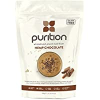 Purition Chocolate Dairy-Free Vegan High Protein Meal Replacement Shake or Smoothie | Healthy Omega Fats and Fibre from All Natural Energy-Rich Wholefoods | Ideal for Weight Loss and Post Workout Recovery | 500 grams for 12 Servings