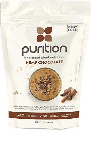 Purition frullato vegano al cioccolato (500gr) integratore proteico per una sana perdita di peso e recupero post allenamento – sostituto di un pasto con il 100% di ingredienti naturali e senza glutine