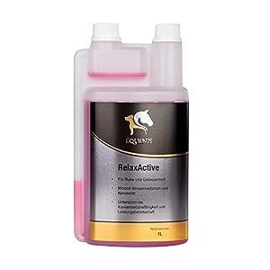 Equanis RelaxActive – Ruhe und Gelassenheit für Dein Pferd. Flüssiges Magnesium mit B12 und L-Tryptphan unterstützt bei Nervosität, Unruhe und Angespanntheit
