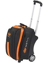 MOTIV Double Roller Bowling Bag- Black/Orange by MOTIV Bowling Products
