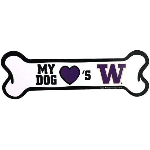 NCAA Washington Huskies Bone Shaped Car Magnet by All Star Dogs