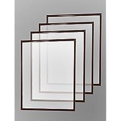 Mosquitero Con Marco De Aluminio 4x Piezas Set Para Ventana Nuevo 130 x 150cm - marrón