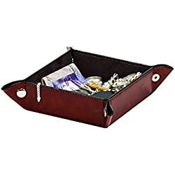 Raffles Gents Brown Leatherette Valet Tray By Mele & Co