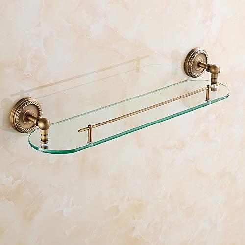cfxdxayd Bad Regale Single Layer Rack Kupfer Antik Handtuch Haken Waschen Dusche Shampoo Glas Lagerung Bad Armatur Korb Regal -