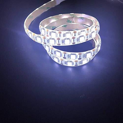 MuLucky USB impermeabile Luce LED Strip 5V SMD 5050 luce di striscia di striscia flessibile per la TV Computer desktop portatile Tablet PC auto accendisigari sfondo decorativo (0.5M/1.7FT, Cold White)