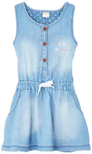 NAME IT Baby Baby - Mädchen Kleid, Blau (Light Blue Denim), 18 Monate