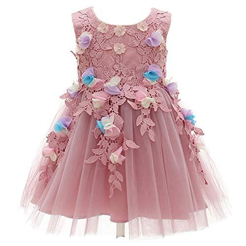 Monimo Baby Mädchen Prinzessin Kleid Blume Hochzeit Partykleid Festzug Babybekleidung