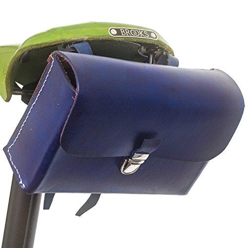 London Craftwork L03 - Sillín de Piel para Bicicleta, Edición Limitada, Color Azul Marino