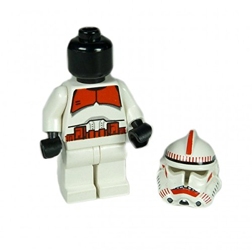 ifigur Clone Shock Trooper rot schwarzer Kopf Set 7655 ()