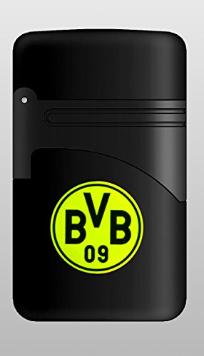 Elektronik FAN Feuerzeug Turbo EASY TORCH BVB Borussia Dortmund nachfüllbar