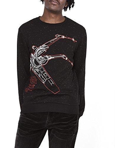 Celio Star Wars, Sweat-Shirt Homme, Noir (Black)