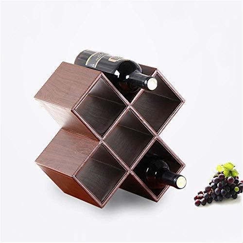 BAIJJ Wein Steht Leder Wein Frame Home Improvement Möbel Wein Frame Fashion Creative Home Frame Flasche Rack